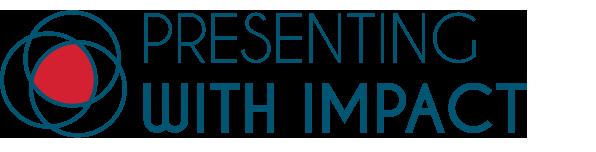 Logo Presenting With Impact, leren presenteren met meer plezier